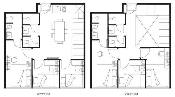 Floor Plan of All Together (6 Bedroom Duplex) Apartment at lyf Funan Singapore
