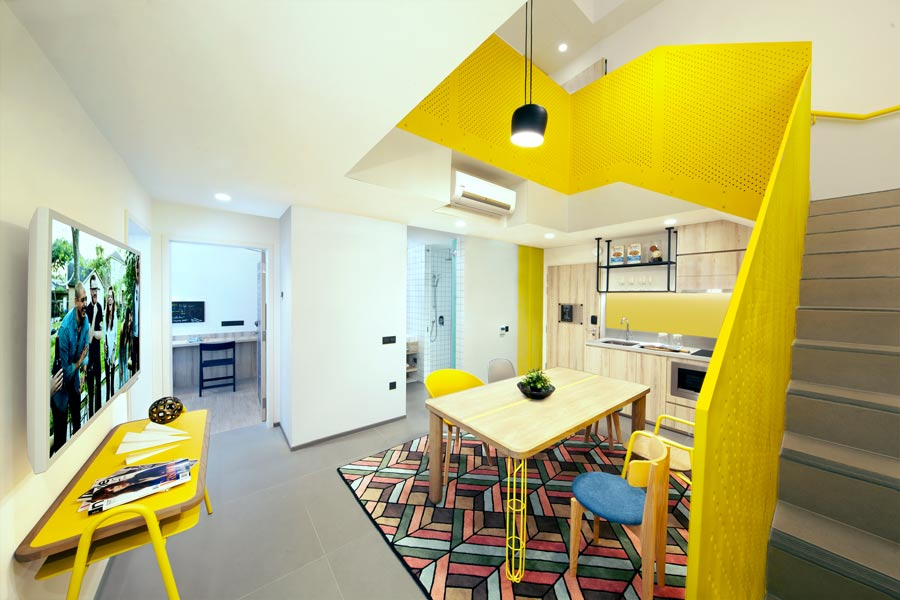 Coworking space of All Together (6 Bedroom Duplex) apartment at lyf Funan Singapore