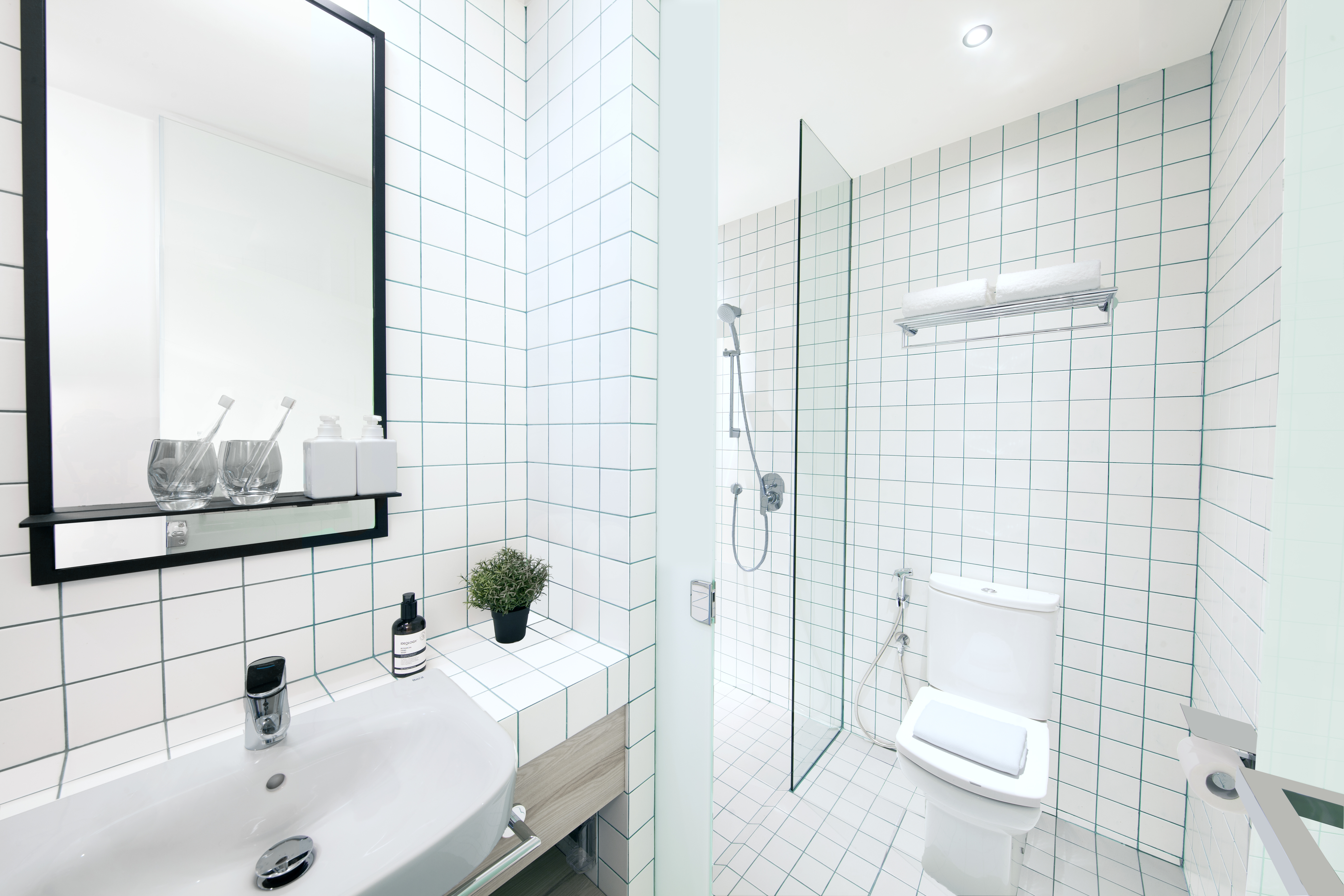 Bathroom area of lyf Style (Studio) apartment at lyf Funan Singapore