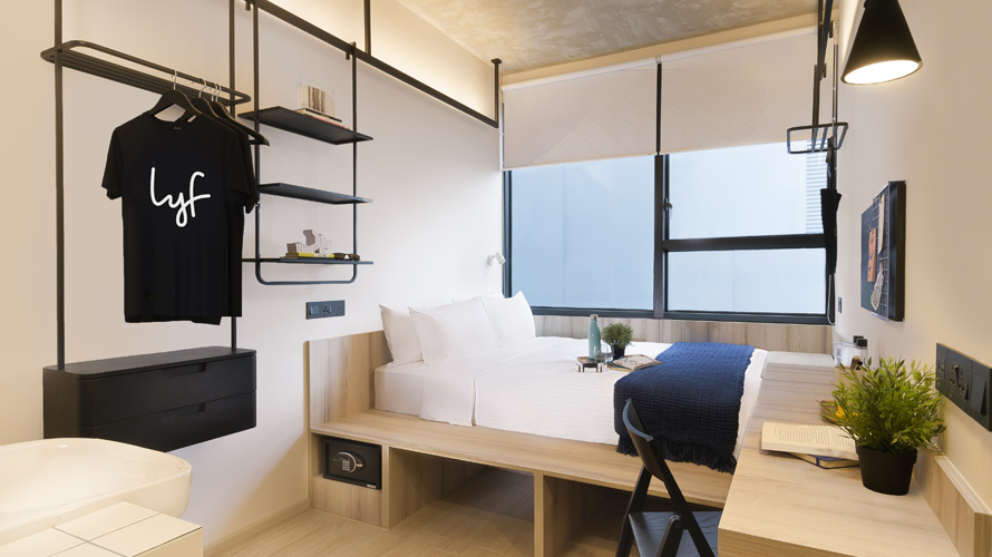 Bedroom at All Together (4 Bedroom Duplex) apartment at lyf Funan Singapore