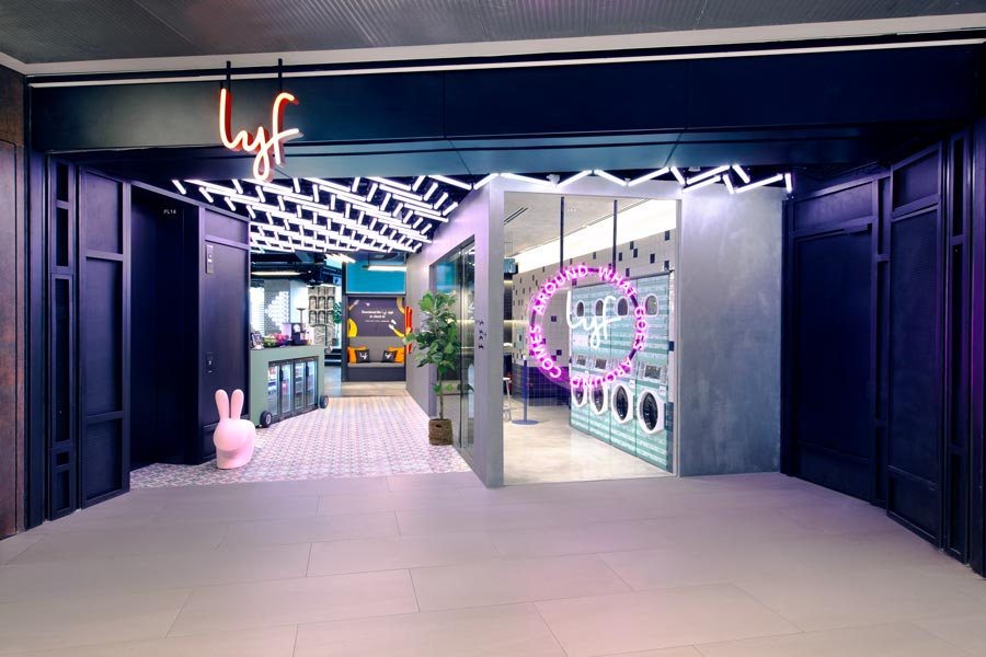 Entrance view of lyf Funan Singapore