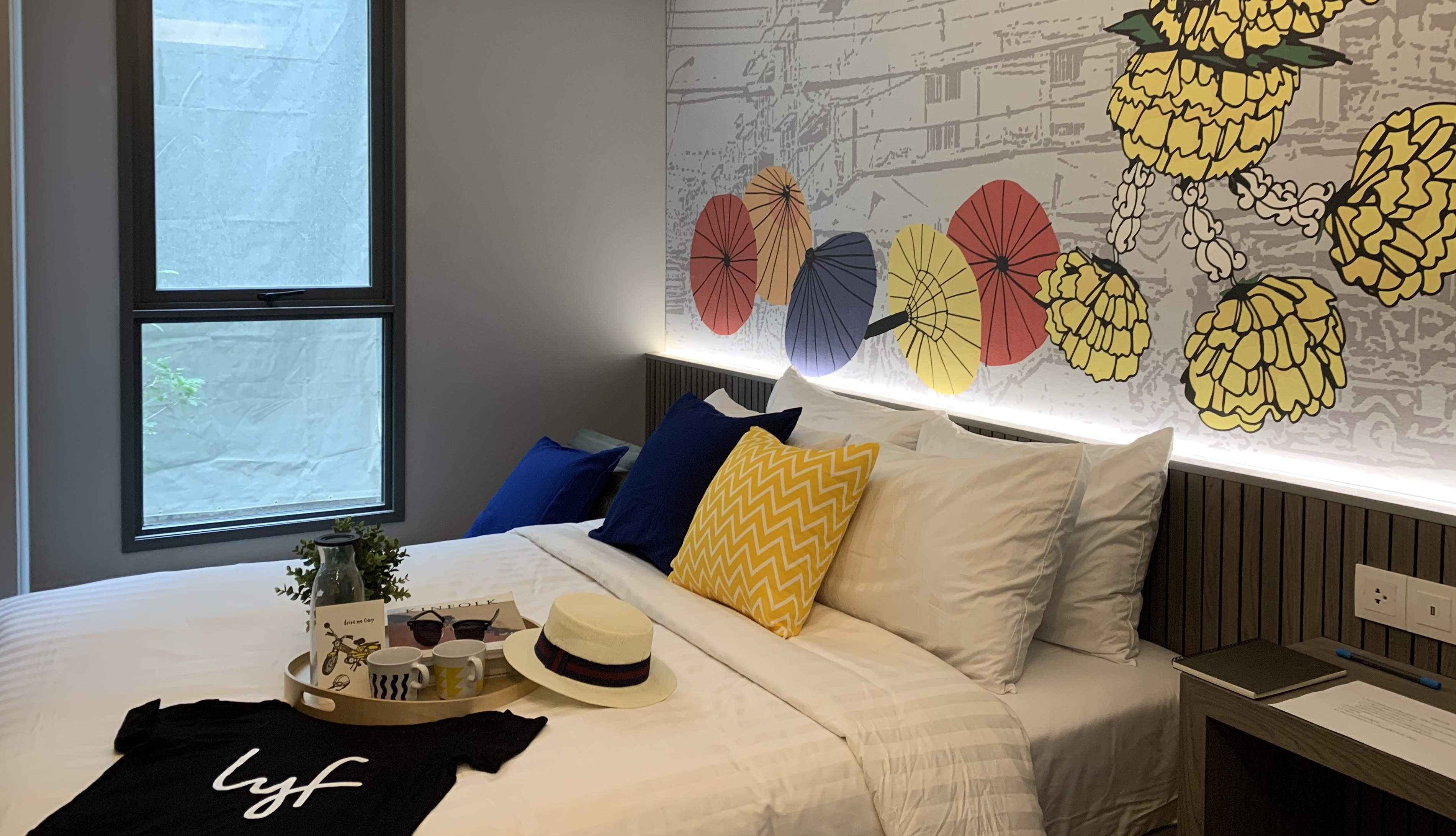 One of a Kind (Studio) apartment bed at lyf Sukhumvit 8 Bangkok